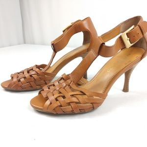 Franco Sarto Classic Wooden Leather Heels